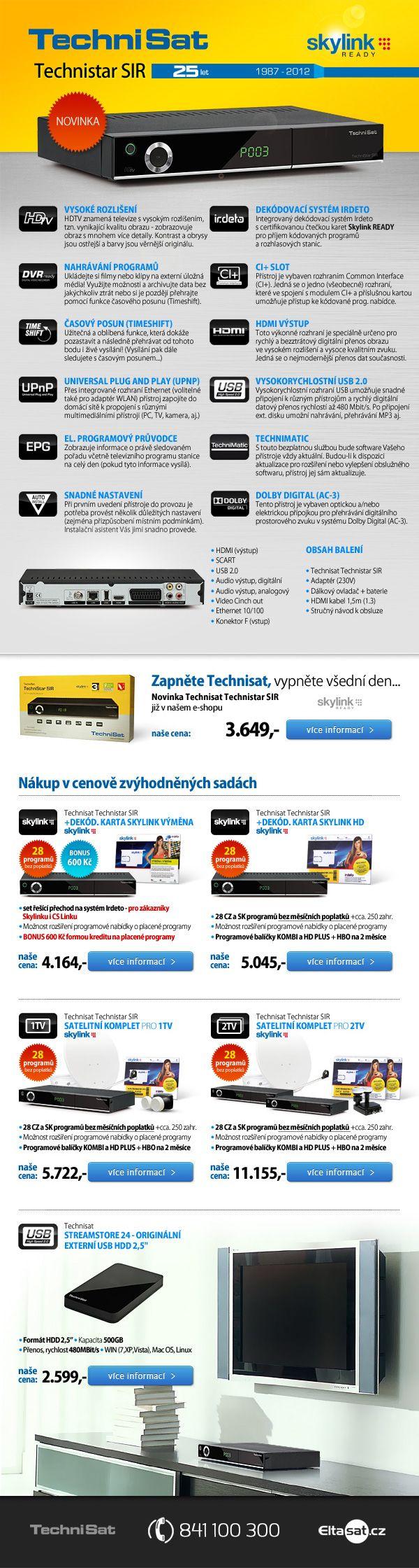 Satelitní přijímač Technisat technistar SIR newsletter - Eltasat