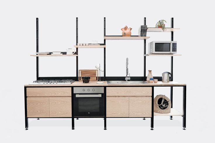 Recognizing that traditional kitchens aren't as functional for some, LCMX reimagined the kitchen into a modular design that's perfect for urban dwellers.