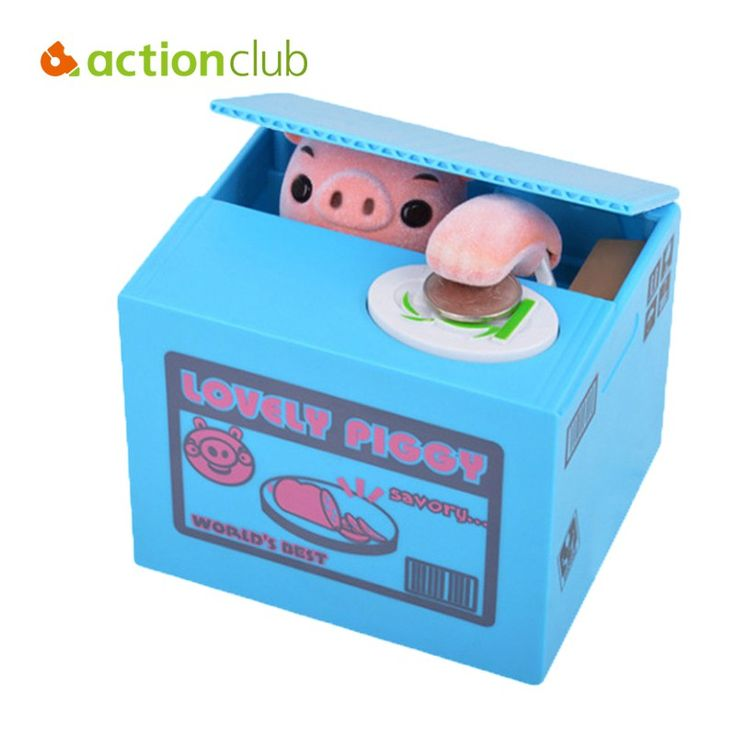 Actionclub Adorable Mischief Saving Box Cartoon Piggy Bank For Children Gift Dog Monkey Mouse Steal Coin Bank Money Box Home Dec //Price: $15.95 & FREE Shipping //     #hashtag1