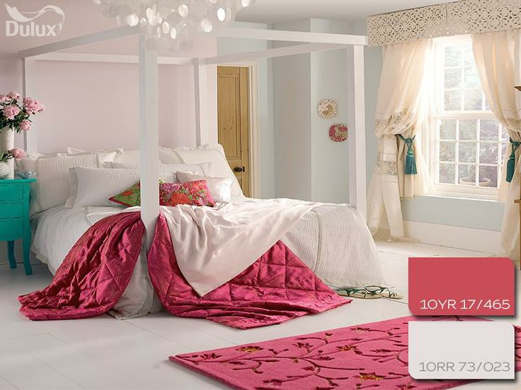 #dulux #pink #red #white #bedroom #homedecor #paint