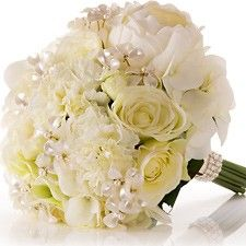 Creamy Rose Wedding Bouquet with Elegant Accent Flowers