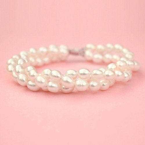 Triple Strand Pearl Bracelet - Kate Ketzal Jewellery & Adornments for my Mom.