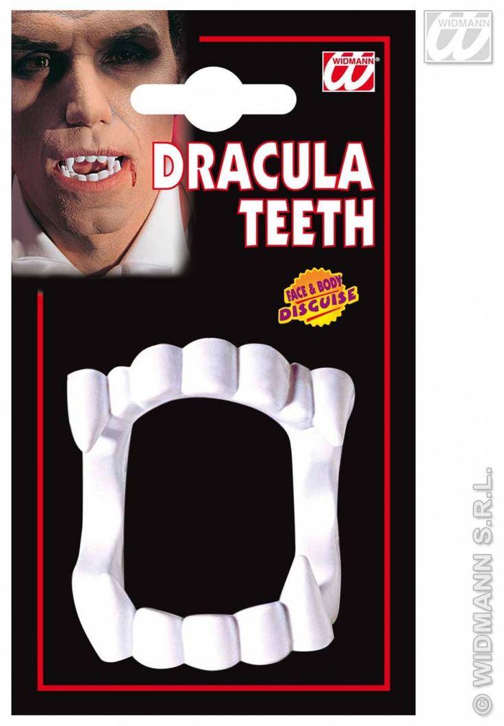 Carnavalsartikelen: Vampier tanden / gebit, pvc
