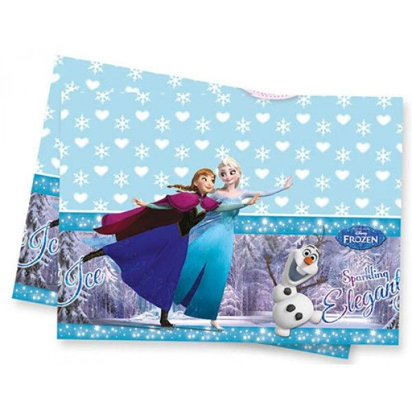 Frozen Ice Skating Table Cover