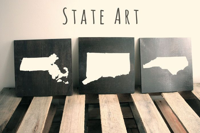 I may have to do this for all the states where I've lived!   BrightNest | Love Your State? Make it #DIY Art!