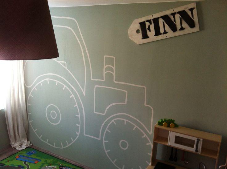 Finn's slaapkamer Contour van een tractor