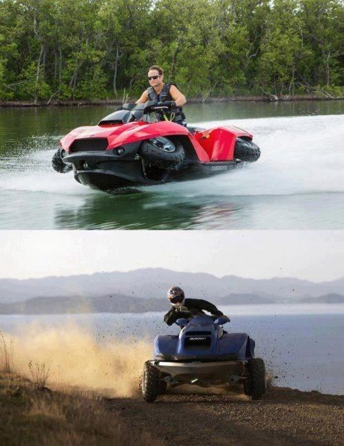 Transformer boat / ATV