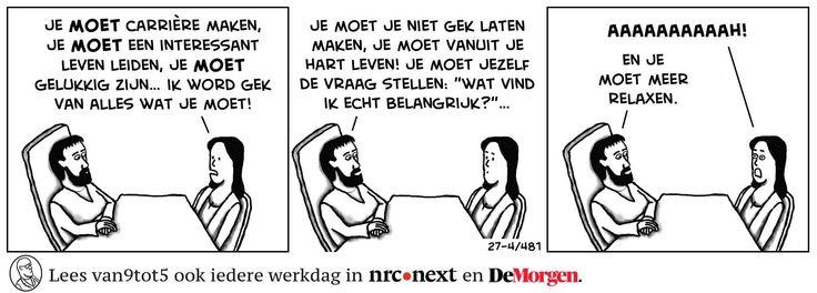 Echt episch dit | Dirk van de Wiel : IN 2012 begon Dirk op Facebook een strip vol kantoorhumor onder de naam Van 9 tot 5.  Inmiddels (2016) meer dan 35.000 'likers'/volgers en gepubliceerd op/in kranten nrc.next en De Morgen.