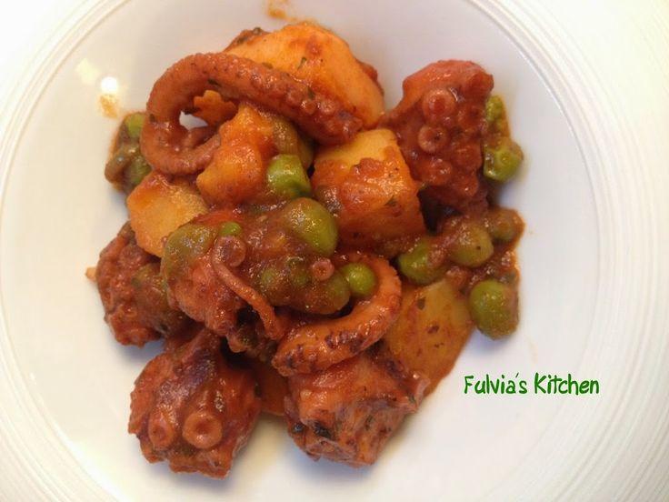 Fulvia's Kitchen Polpo in umido con patate e piselli