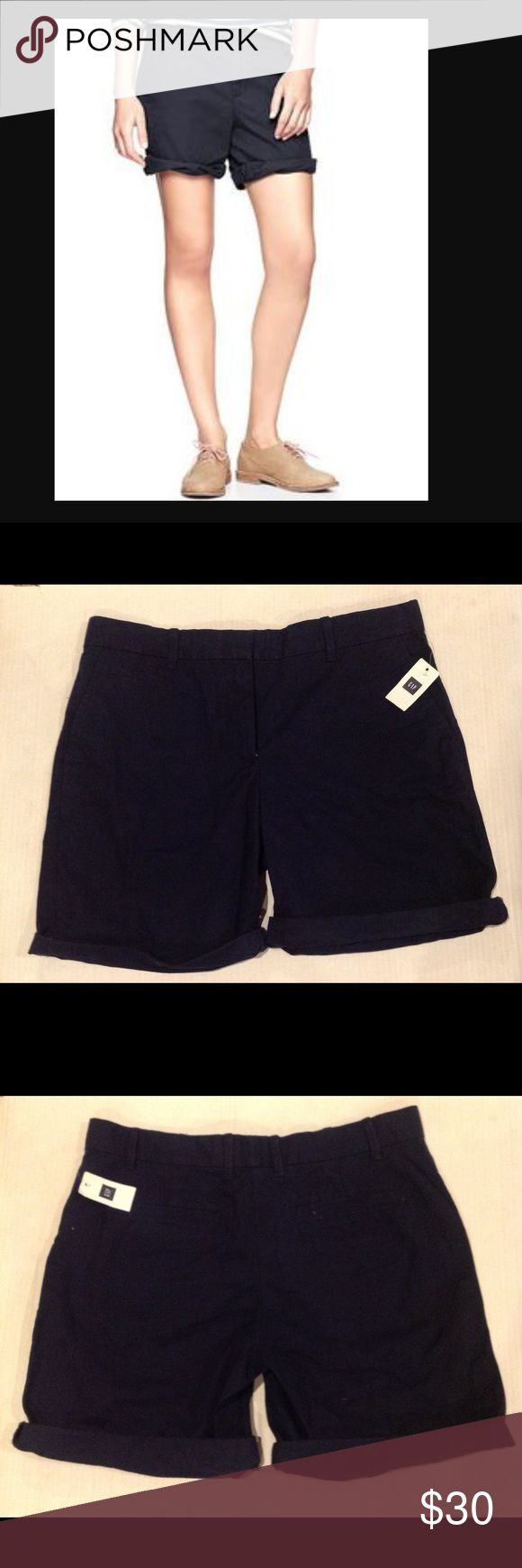 🆕GAP WOMEN'S  BOYFRIEND ROLL UP KHALIS  (Sz 4P) Gap women's boyfriend roll - up khakis . It has roll up style . It has 2 pockets and a small side pocket  and 2 back pockets. Zipper fly.  THE SIZE IS 4 Petite. The material is 100 % cotton. BRAND NEW WITH TAG. GAP Shorts