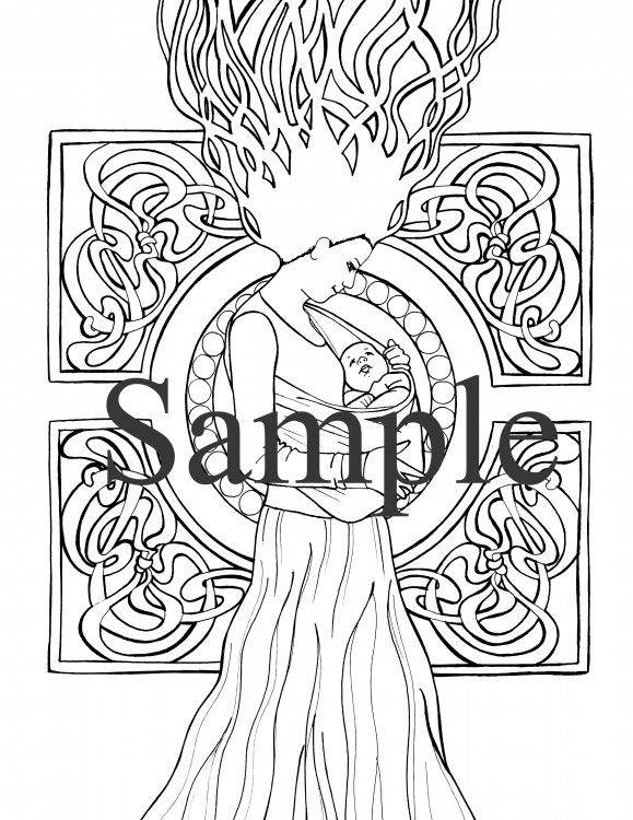 Coloring pages of children wearing afo ~ 7 best Birth and Pregnancy Coloring Pages images on ...