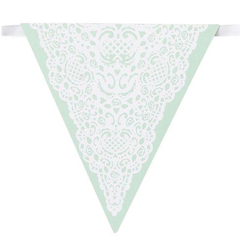 Wimpelkette Weiß/Minzgrün