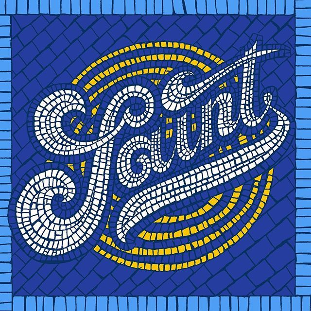 SAINT. First of 2 hand-made mosaics. Next one very soon, stay tuned! Don you like it?