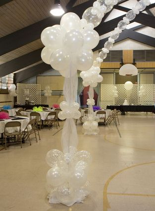 Balloon columns and arch for dance floor