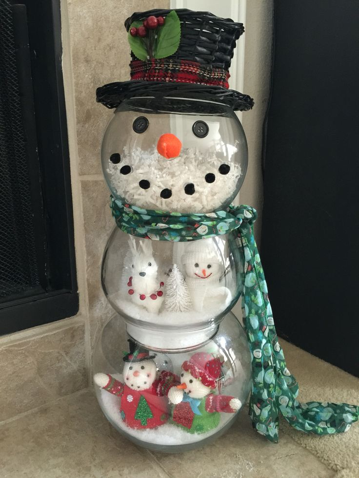 Christmas fishbowl Snowman