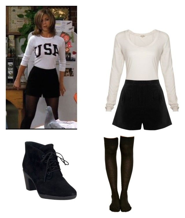 """RACHEL GREEN inspired outfit"" by another-fangirl-called-indi ❤ liked on Polyvore featuring Cotton Citizen, Oasis and Clarks"
