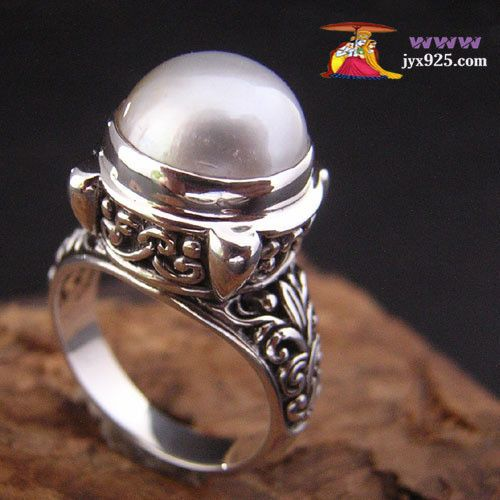 Tailandia 925 plata pura anillo de perlas de plata 6925608289(China (Mainland))
