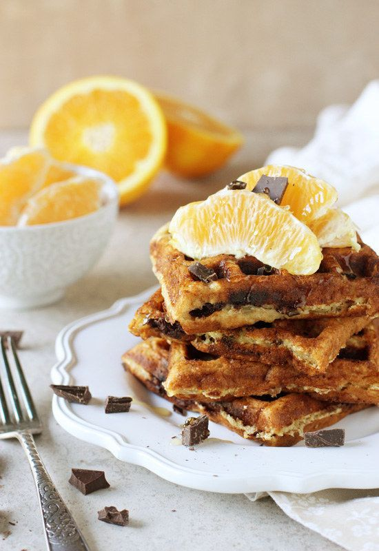 Orange and Dark Chocolate Waffles | 13 Holiday Desserts That Aren't Gingerbread