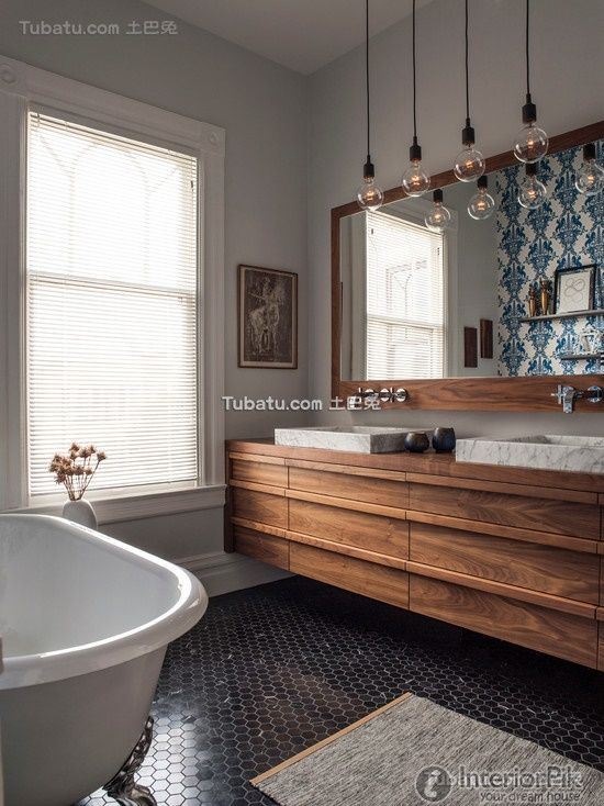 American style interior design bathroom