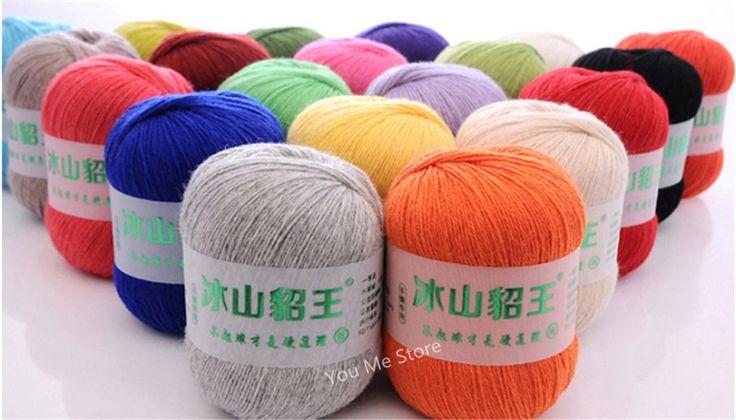 Gyapjú fonal kötött hosszú haj mint Mink Super Hot Gyönyörű szín fonal labdák Big 20 / Lot 1 KG Ingyenes szállítás Wire Home & Garden AliExpress.com | Alibaba Group