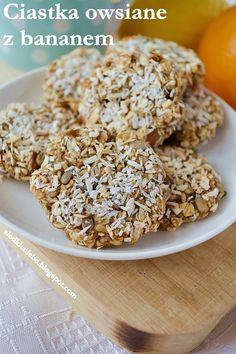 Słodkie niebo: Dietetyczne ciastka owsiane z bananem (bez mąki, bez cukru, bez tłuszczu)
