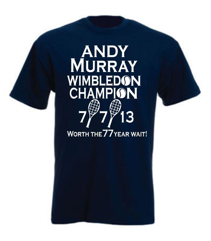 Andy Murray Unisex T Shirt  'Worth The 77 Year Wait'