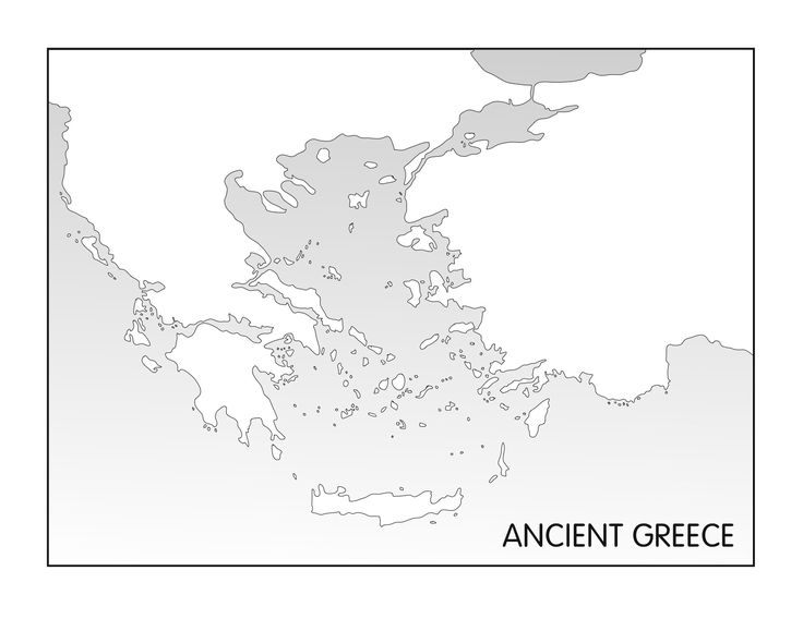 Ancient Greece Printable Blank Map Homeschooling