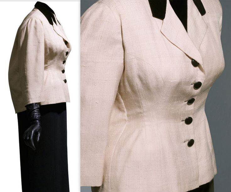 1951 Jacket in  pink wild silk taffeta