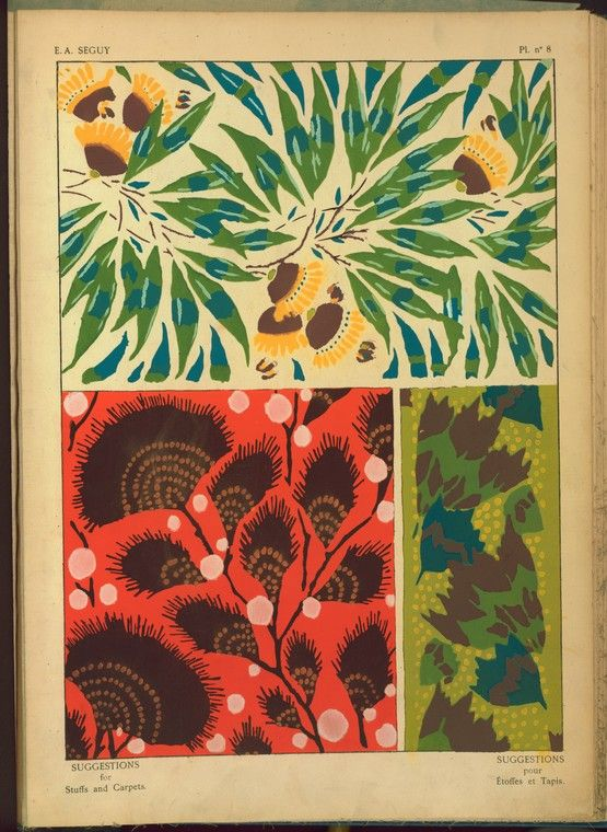 Image Title:  [Three plant form designs.] Creator: Séguy, E. A. -- Artist Medium: Pochoir prints