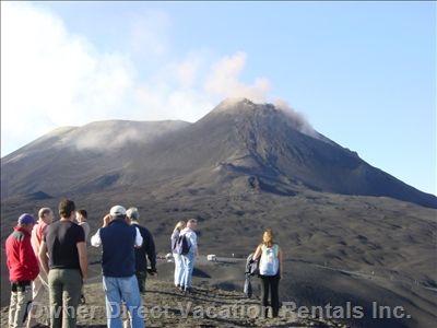 Trek Mt Etna, the highest European active Volcano