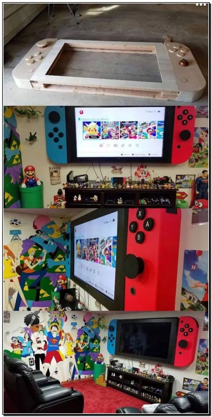 Game room design, Video game room, Video game rooms, Gamer room, Game room, Game room decor - 99 Awesome Teenage Boys Bedroom Design Ideas a Few Ideas That May Be Useful KidsRoomDesign TeenageBoys i - #Gameroom #design