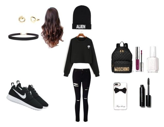 """alien"" by lola2bravo on Polyvore featuring Nicopanda, Miss Selfridge, Moschino, By Terry, Karen Millen, Essie, Casetify, Humble Chic, Bobbi Brown Cosmetics and NIKE"