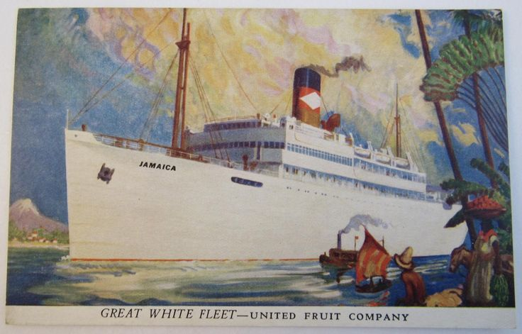Great White Fleet - United Fruit Company Postcard.  Available for sale at SS Moore Antiques on RubyLane.com