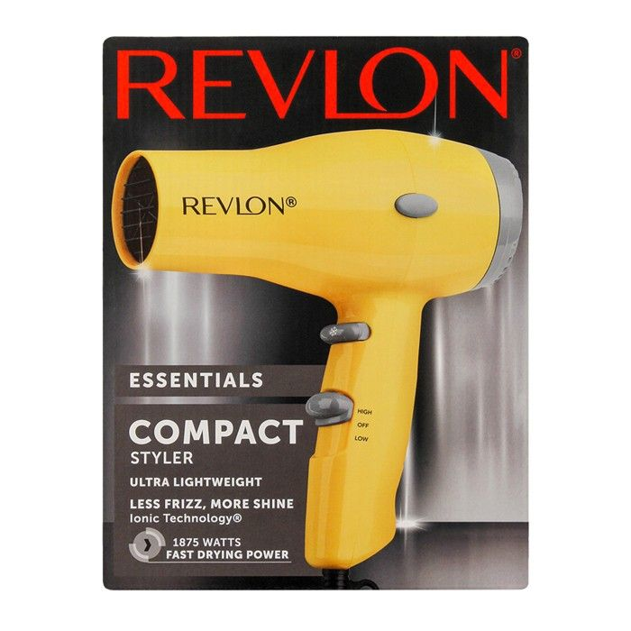 Revlon Essentials Compact Styler Hair Dryer 1875w In 2020 Lightweight Hair Dryer Compact Hair Dryer Hair Dryer