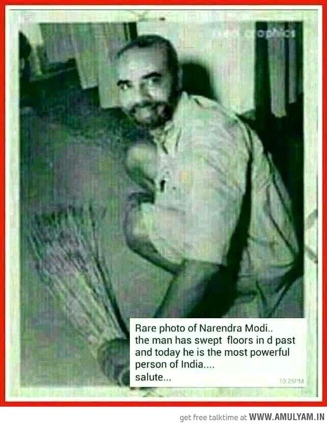 Pic of young Narendra Modi