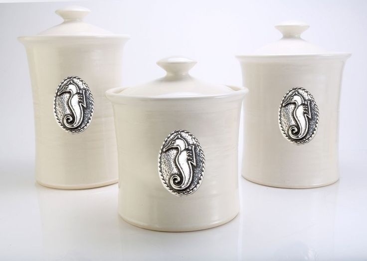 Ceramic Canister Set   Fleur De Lys | Crosby U0026 Taylor Tin Woodsman Pewter