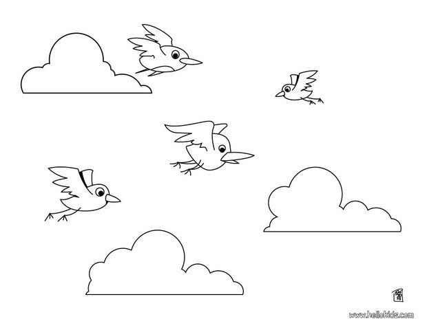 Flying Birds Coloring Page Nice Bird Coloring Sheet More