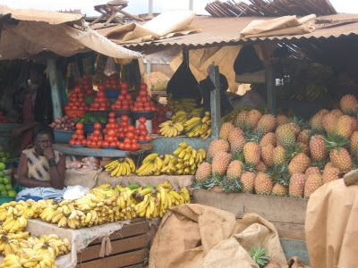 a portrayal of grace: uganda is a giant farmers market.