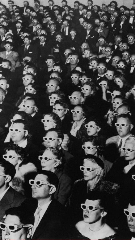 Introduction of 3-D movies at the Paramount Theater in Hollywood, California (1952) • photo: J. R. Eyerman / LIFE Magazine