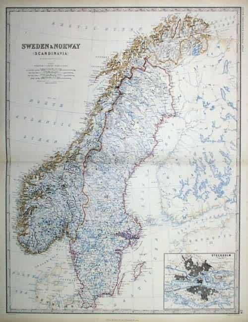 Best Antique Maps Of Scandinavia Images On Pinterest Antique - Sweden map history