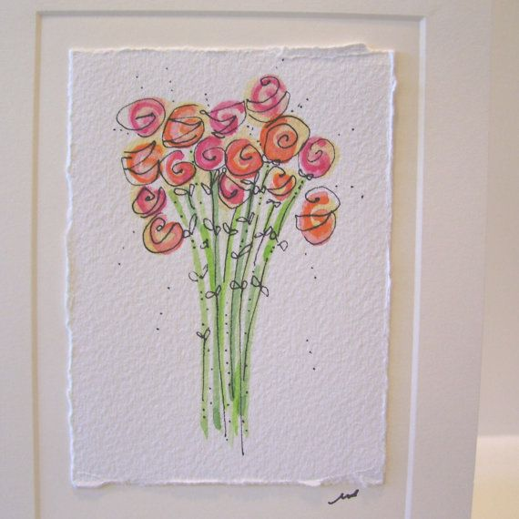 "Watercolor Card ""All My Love"" Original With Envelope betrueoriginalart"