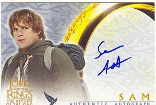 Le Seigneur des Anneaux rotk Autographe Sean Astin Carte meilleurs prix comme samsagace gamegie: Topps officielles cartes Seigneur des…