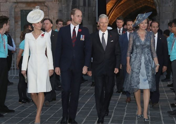 The Duke and Duchess of Cambridge along with The King and Queen of Belgium attend a ceremony to mark the centenary of Passchendaele Battle July 30th 2017 : Getty Images (Chris Jackson) #duchessofcambride #katemiddleton #weadmirekatemiddleton #princewilliam #dukeofcambridge #royals #royal #royalfamily #england #britishroyals #queenmathilde #kingphilippe #belgium #Passchendaele100 via ✨ @padgram ✨(http://dl.padgram.com)
