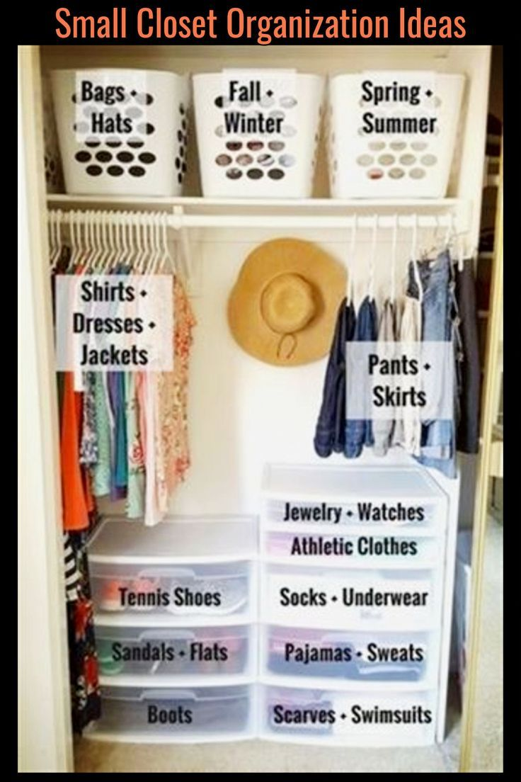 Closet Organization Ideas for Small Closets or walk in closets to declutter clot…