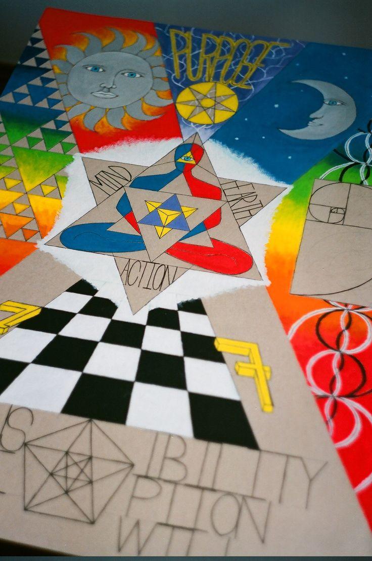 Merkaba, Duality, Fractal geometry, Fibonacci, Alchemy, 777, Free will, Perception, Responsibility, Flower of life, DNA