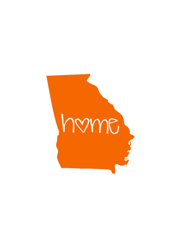 Home State Decal - Georgia - Cute Custom Decal for Car or Tablet - State Pride - State Love - 4 in Sticker
