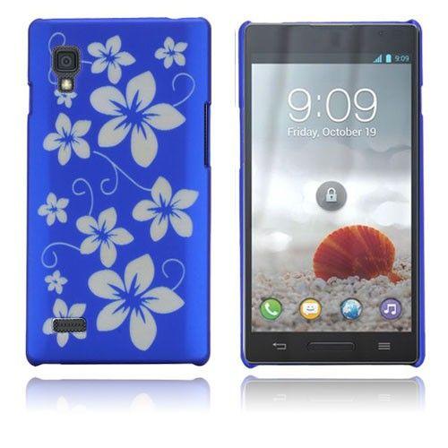 Flowers (Sininen) LG Optimus L9 Suojakuori
