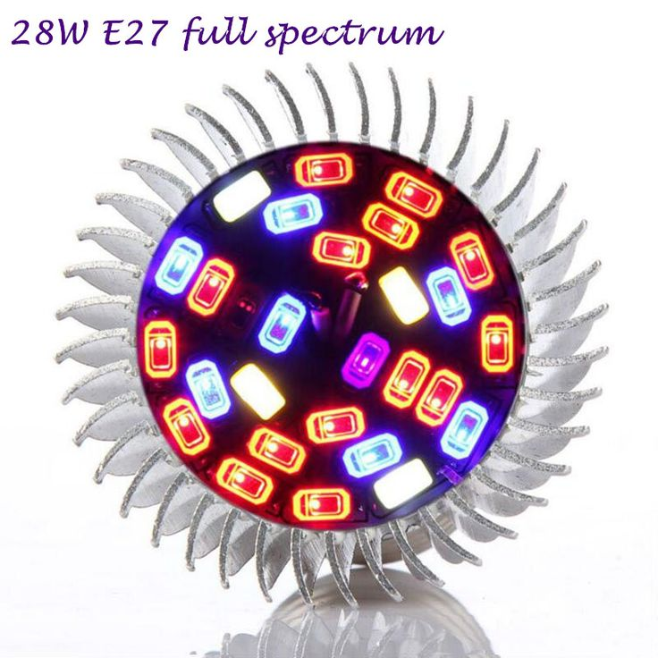 2pcs 28W E27 Full Spectrum Led Grow Lights Led Bulb Plant Lamp Red Blue UV IR for Grow Tent Greenhouse Indoor Hydroponics Flower #men, #hats, #watches, #belts, #fashion, #style