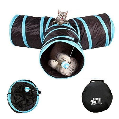 From 11.99 Akemiao Cat Tunnel 3 Way Collapsible Kitten Tube Pet Toys Length 80cm