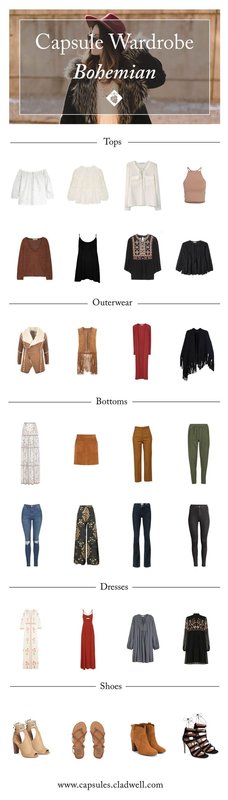 How to Create a Boho Capsule Wardrobe